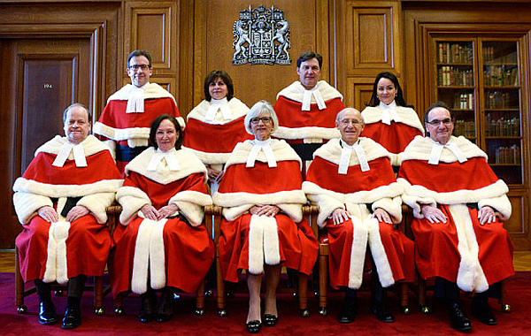 The Supreme Court of Canada justices-the new power in the land-THE CANADIAN PRESS-Adrian WyldWEB