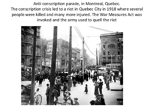 Anti-conscription Riot, Montreal, 1918